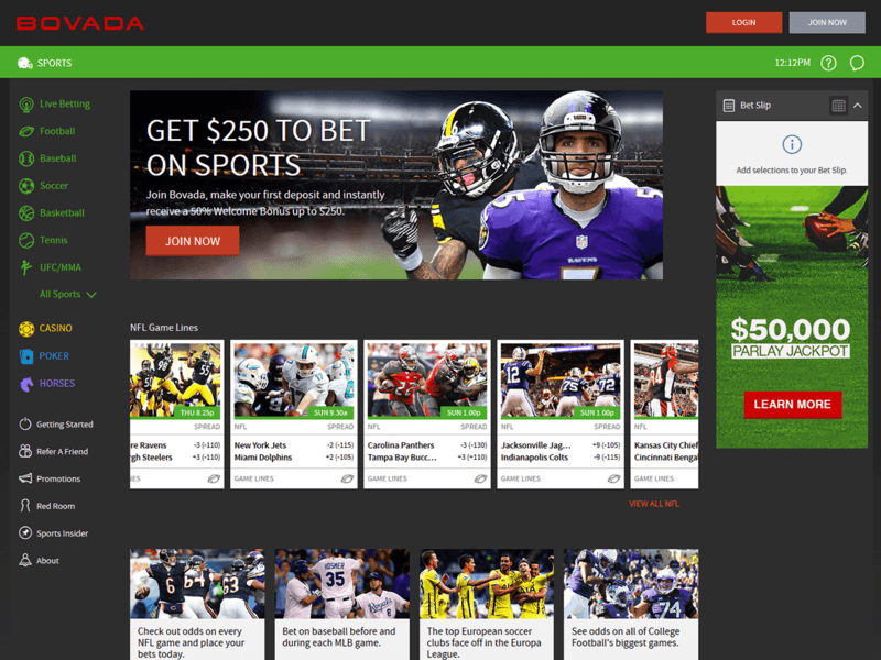 Bovada Sports Betting Reviews